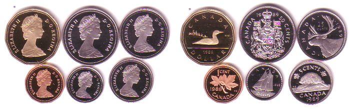 div Eistaucher, 0,01-1$, lose Kanada 1,91 Dollar 1989