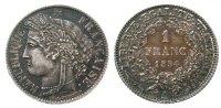 Frankreich 1 Franc Ag Ceres, Mzz: A, herrliche Patina