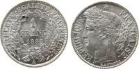 Frankreich 1 Franc Ag Ceres, A (Paris), kleiner Fleck