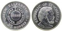 Seychellen 25 Rupien Ag Elisabeth II, 25.Jahrestag Thronbesteigung