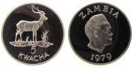 Zambia 5 Kwacha Ag Antilope