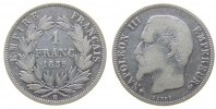 Frankreich 1 Franc Ag Napoleon III, BB (Strasbourg)