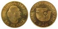 Tonga 20 Paanga Gold FAO, 750 Ex., 0.8 Gramm / .999