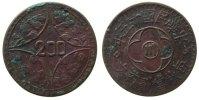 China 200 Cash Ku Szechuan, Jahr 15, Grünspan/Lack (?), kleiner Randfehler