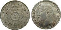 Frankreich 1 Franc Ag Napoleon III, BB (Strasbourg), eine feine Prüfspur am Rand