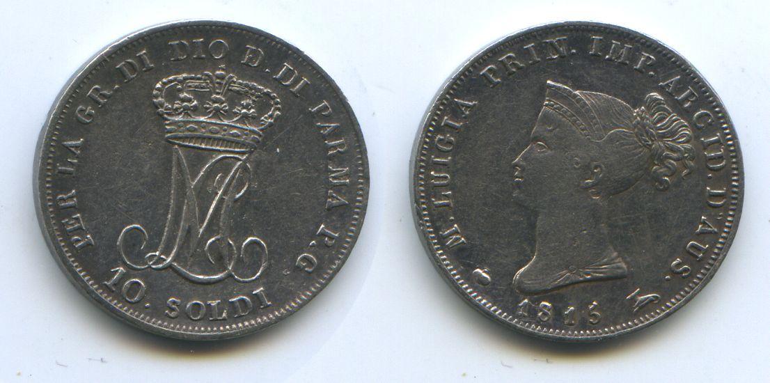 M#3070 Silber Maria Luigia 1815-1847 Italien Parma 10 Soldi