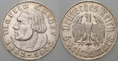 5 Reichsmark 1933 D  MARTIN LUTHER Patina,...