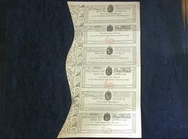 Zinscoupon über 3 Francs 1816 + 1817 DEUTS...