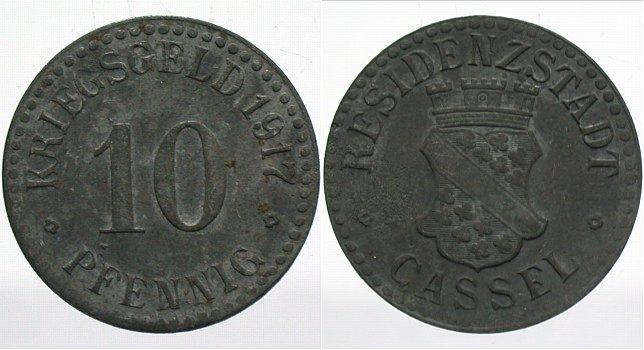 Cassel 10 Pfennig 1919 Wappen Rs