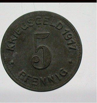 Elberfeld 5 Pfennig 1917 Wappen Rs