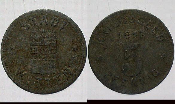 Witten 5 Pfennig 1917 Wappen Rs