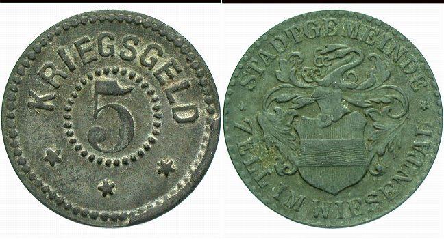 Zell 5 Pfennig o J