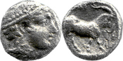 Diobol ca. 435-400 v. Chr.  Thrakien / Ain...