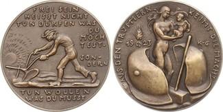 Bronzegussmedaille 1923 Goetz-Medaillen &q...