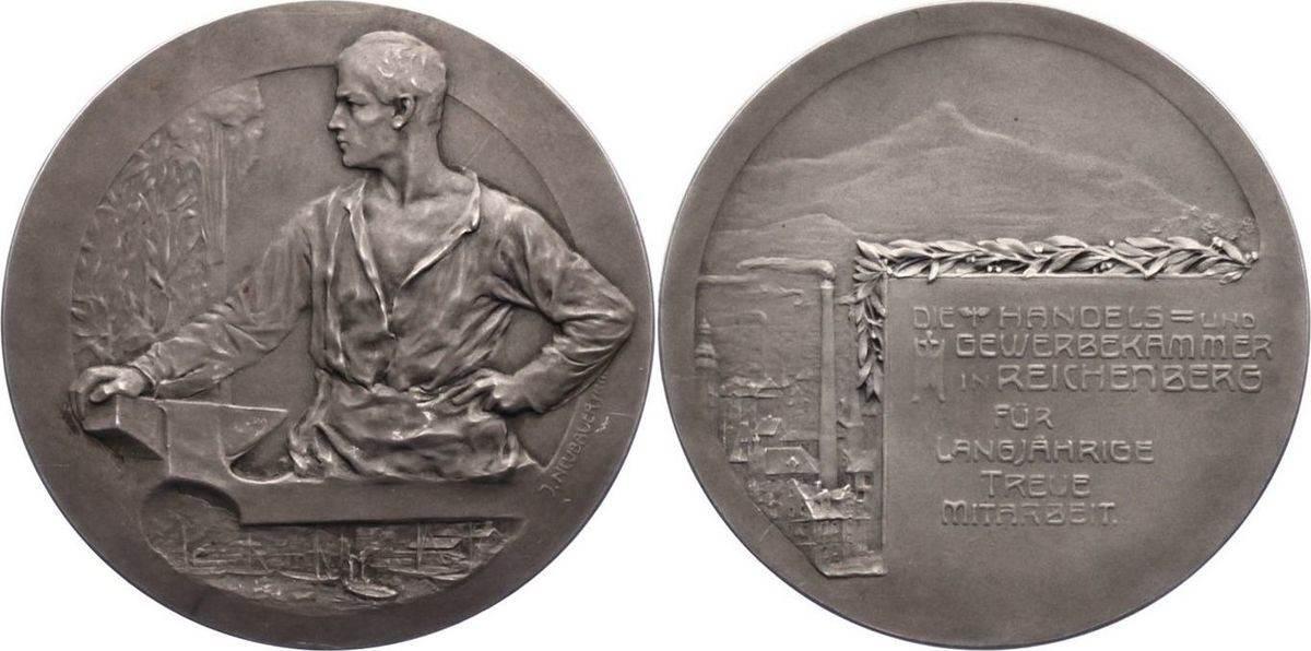 Reichenberg / Böhmen Silbermedaille