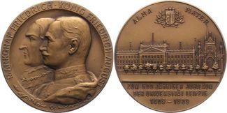 Bronzemedaille 1909 Sachsen-Leipzig, Stadt...