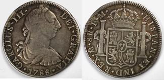 8 escudo 1788 Mexico 8 escudo 1788 Mexico....