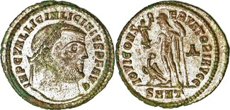 313  Licinius I AE Follis 313 AD. Heracle...