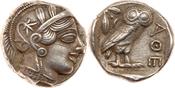 Attica, Athens. Silver Tetradrachm (17....