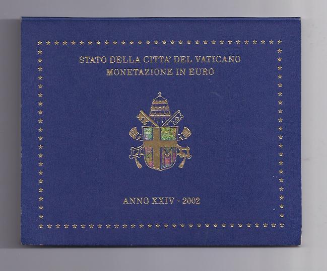 Kursmünzensatz 2002 Vatikan 3,88 Euro Kms Original
