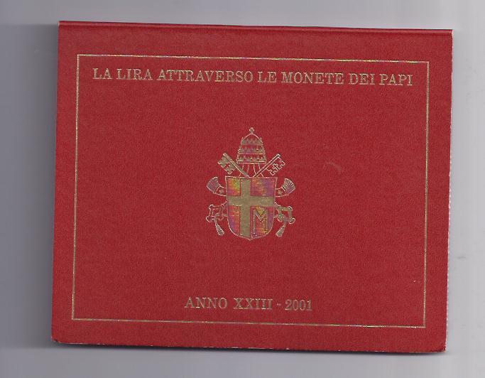 Kursmünzensatz Vatikan 2001 Kms Lire