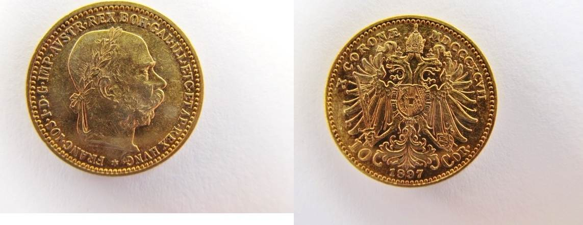 10 Corona Franz Josef I Gold Österreich 10 Kronen 1897