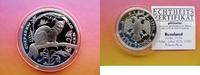 3 Rubel Silber 1994 Russland / UdSSR Zobel...