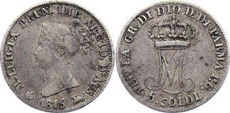 Maria Luigia 1815-1847 Italien-parma 5 Soldi