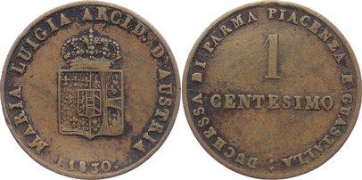 Maria Luigia 1815-1847 Italien-parma Cu Centesimo 1830