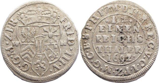 Friedrich Iii 1688-1701 Brandenburg-preußen 1/12 Taler 1692