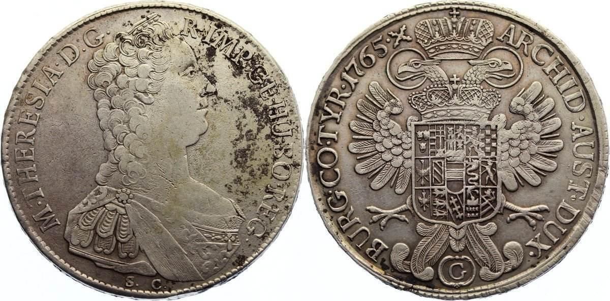 Maria Theresia 1740-1780 Haus Habsburg Taler 1765