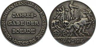 medaille 1918 Magdeburg, Stadt  vorzüglich