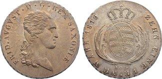 Taler 1816 Sachsen-Albertinische Linie Fri...