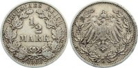 1/2 Mark 1908  G Kleinmünzen  sehr schön  15,00 EUR
