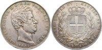 5 Lire 1849 Italien-Sardinien Karl Albert 1831-1849. sehr schön +  375,00 EUR