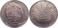 8 Reales 1890 Mexiko Zweite Republik seit 1867. leicht gereinigt, fast ... 345,00 EUR  zzgl. 3,50 EUR Versand