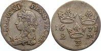 2 Mark 1671 Schweden Karl XI. 1660-1697. sehr schön  150,00 EUR