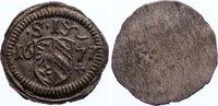 Einseitiger Pfennig 1677 Nürnberg, Stadt  vorzüglich  20,00 EUR