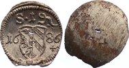Einseitiger Pfennig 1686 Nürnberg, Stadt  kl. Schrötlingslöcher, prägef... 20,00 EUR