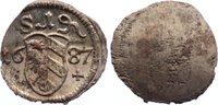 Einseitiger Pfennig 1687 Nürnberg, Stadt  kl. Schrötlingslöcher, prägef... 20,00 EUR