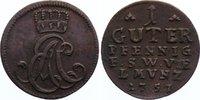 Cu Guter Pfennig 1757 Sachsen-Weimar-Eisenach Ernst August Constantin 1... 25,00 EUR