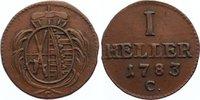Cu Heller 1783  C Sachsen-Albertinische Linie Friedrich August III. 176... 20,00 EUR