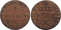 Cu Pfennig 1822  D Brandenburg-Preußen Friedrich Wilhelm III. 1797-1840... 25,00 EUR  zzgl. 3,50 EUR Versand