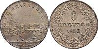 6 Kreuzer 1853 Frankfurt, Stadt  vorzüglich  35,00 EUR  zzgl. 3,50 EUR Versand