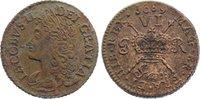 Messing 6 Pence 1689 Irland Jakob II. von Großbritannien 1685-1690. Bel... 115,00 EUR  zzgl. 3,50 EUR Versand