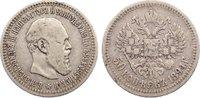 50 Kopeken 1894 Russland Alexander III. 1881-1894. kl. Randfehler, kl. ... 80,00 EUR  zzgl. 3,50 EUR Versand