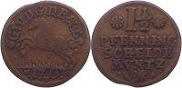 Cu 1 1/2 Pfennig 1703 Braunschweig-Lüneburg-Celle Georg Wilhelm 1665-17... 20,00 EUR
