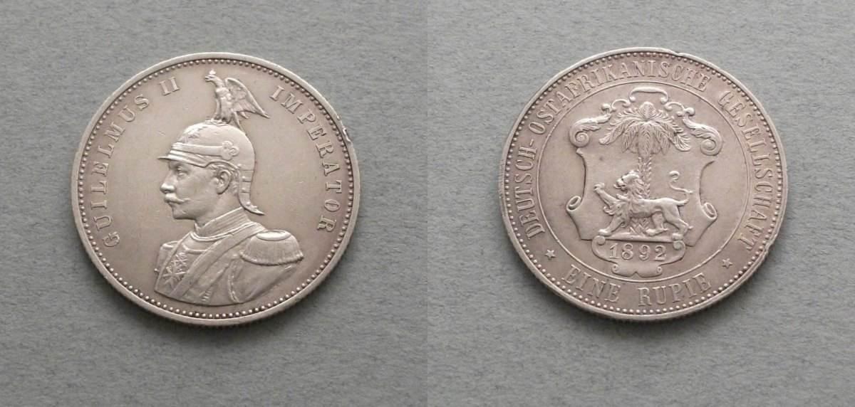 Deutsch Ostafrika 1 Rupie 1892