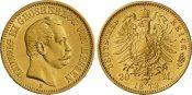 20 Mark 1873 H Hessen Ludwig III. ss/vz
