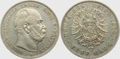 5 Mark J 97 Preussen Kaiser Wilhelm I. vz